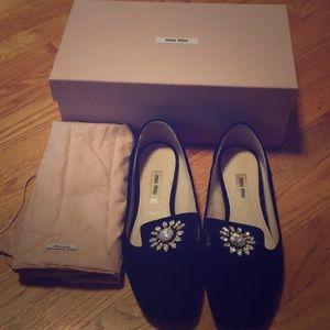 Miu Miu embellished loafers